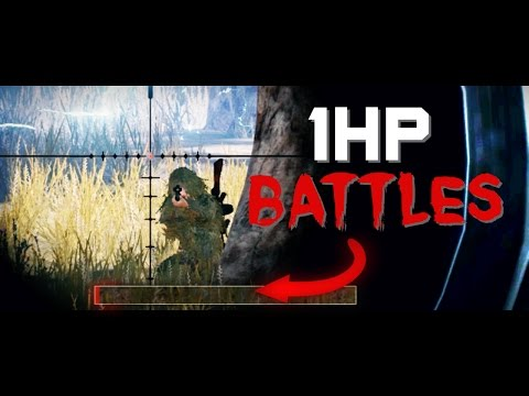 1HP BATTLES! - PlayerUnknown's Battlegrounds