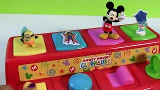 Surprise eggs Mickey Mouse clubhouse, Pluto, Minnie and Donald pop-up toy