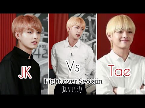 Tae & Jk fight over Jin (RUN57)