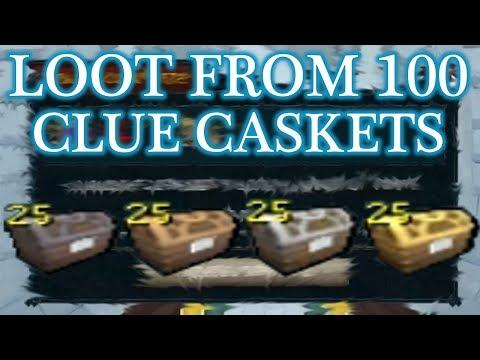 Runescape 3 - Loot From 100 Clue Caskets