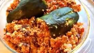 Vegan Quinoa Stuffed Poblano Peppers-turned Out Great!