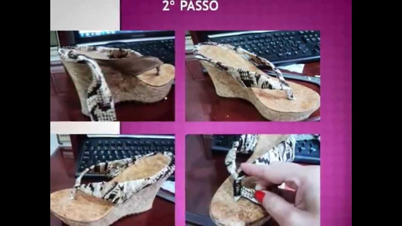 Sandália Anabela Sandália Anabela Decoupagem Decoupagem Em Em Decoupagem Em 0XnwPO8k