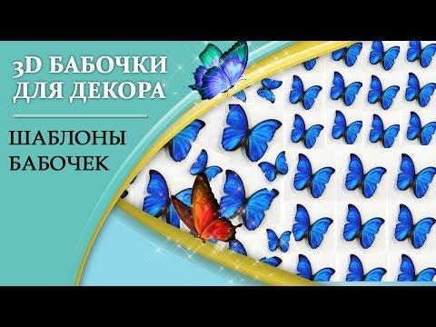 300 шаблонов и трафаретов бабочек для вырезания из бумаги!