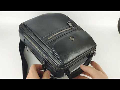 Мужская вертикальная сумка с ручкой натуральная кожа HT 119114