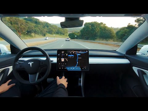 Tesla's new video shows a Model 3 driving itself like it's no big deal