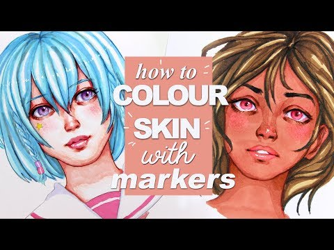 [TUTORIAL] How to color SKIN with MARKERS (copic alternative)
