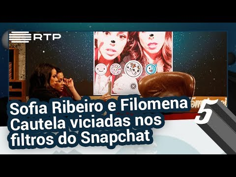 Sofia Ribeiro e Filomena Cautela viciadas nos filtros do Snapchat - 5 Para a Meia-Noite