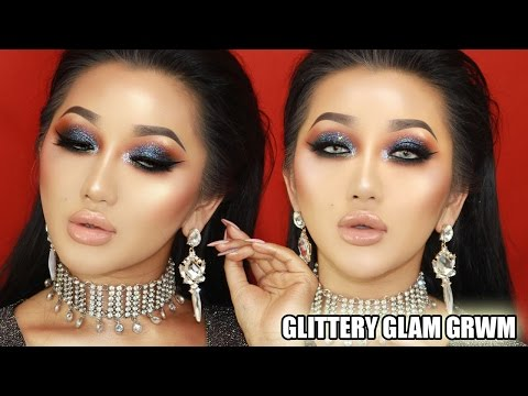 GLITTERY GLAMOROUS GET READY WITH ME | XTHUYLE