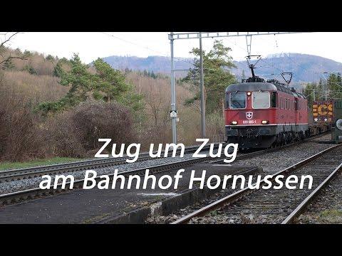 Zug um Zug am Bahnhof Hornussen