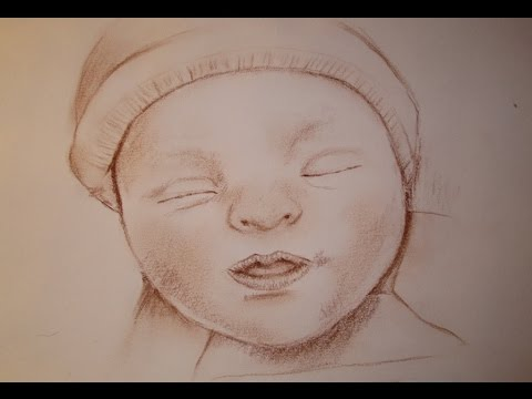 Tutoriel n 3 dessiner le portrait d 39 un b b youtube - Coloriage de bebe ...