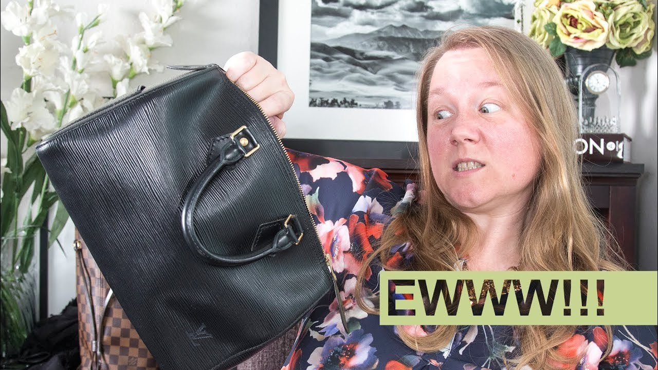 GROSS!!! Why I'm RETURNING my Louis Vuitton Speedy 25 epi || unboxing &  review || Autumn Beckman