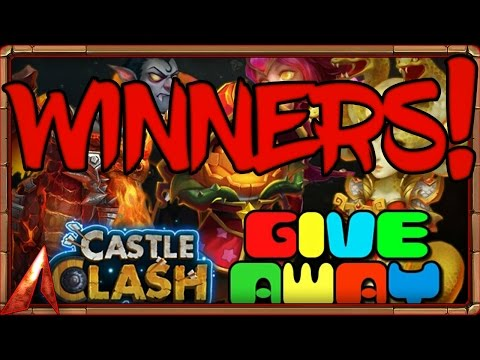 Castle Clash MVZ/Rawtish Giftcard Winners+ Account Finalist!