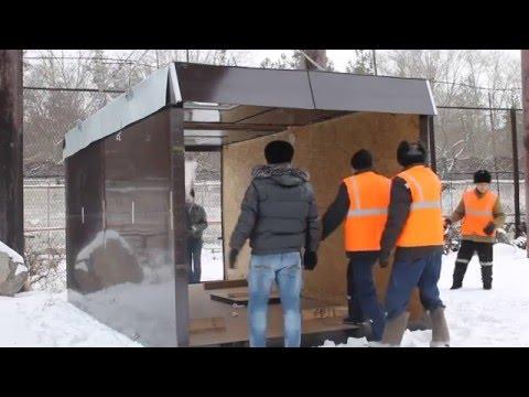 видео: Строительная бытовка (трансформер)