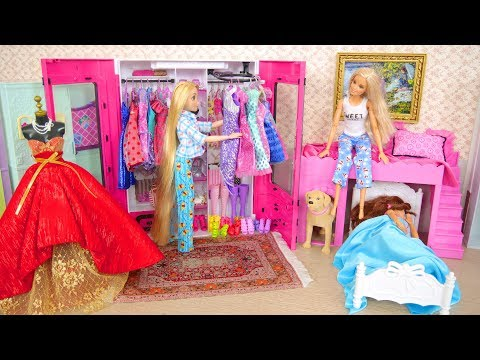 Rapunzel Barbie Bedroom Morning With Dogs Manhã Quarto Raiponce Matin Rutinitas Pagi باربي غرفة نوم