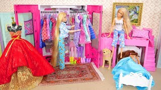 Rapunzel Barbie Bedroom Morning with Dogs Manhã Quarto Raiponce Matin Rutinitas pagi باربي غرفة نوم