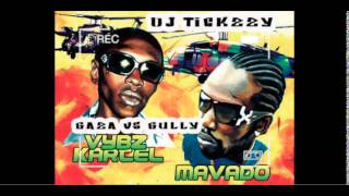 DANCEHALL GUN TUNES   VYBZ KARTEL VS MOVADO OLD SKOOL WAR GULLY VS GAZADJ @TICKZZYY