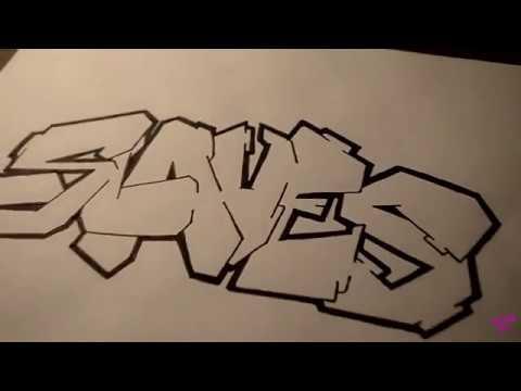 Drawing Graffiti on Paper Basic Simple