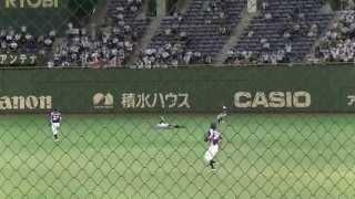 齋藤達則(JR東日本) 2死1,2塁で岡本健(新日鐵住金かずさマジック)から右中間に落ちるタイムリーヒット 20130722