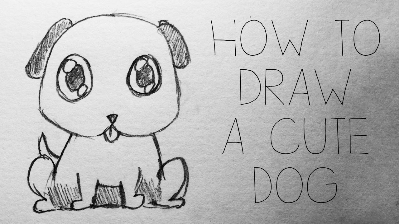 Easy D Line Drawings : Easy tutorial: how to draw a cute dog zoe cain youtube