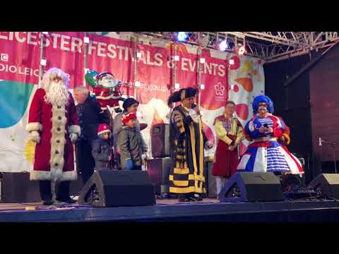 Leicester's Christmas light switch on 2017