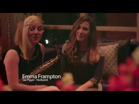 Hedkandi All Night Long 11th April 2014 Phoebe d'Abo and Emma Frampton on Sax