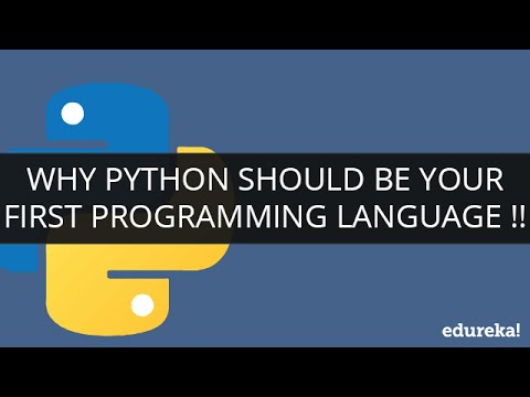 Why Python Should Be Your First Programming Language !! | Webinar -1 | Edureka
