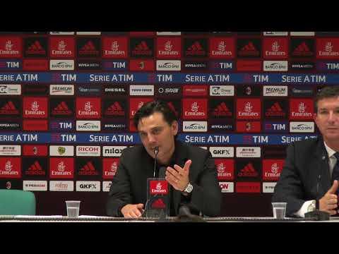 """Conferenza Montella post Roma: """"Abbiamo giocato alla pari. Dzeko? Gran gol con pizzico di fortuna"""""""