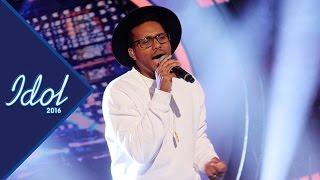 Greg G Curtis sjunger Locked out of heaven Idol 2016 - Idol Sverige (TV4)