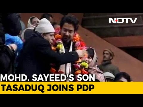 On Mufti Mohammad Sayeed's First Death Anniversary, Son Tasaduq Joins PDP