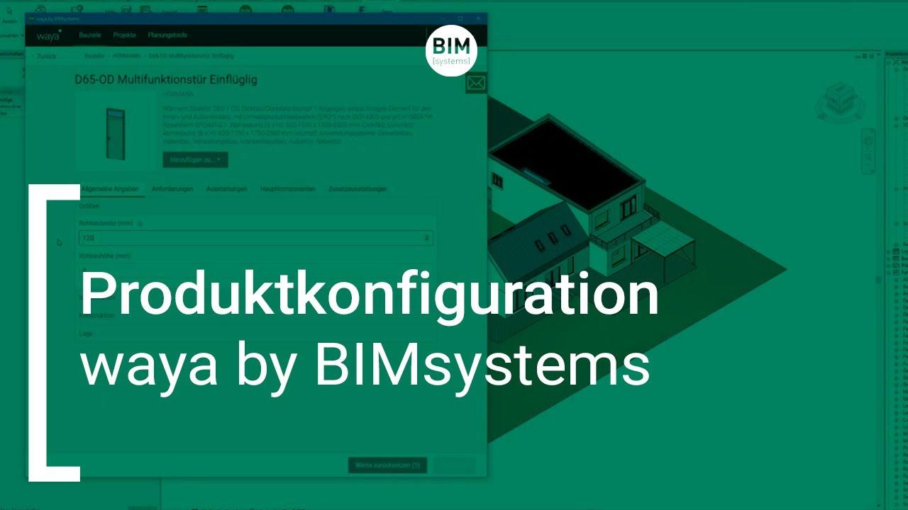 waya by BIMsystems |  Produktkonfiguration