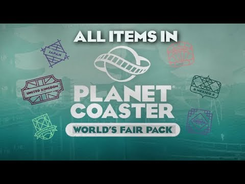 All items in Planet Coaster's World's Fair Pack! |