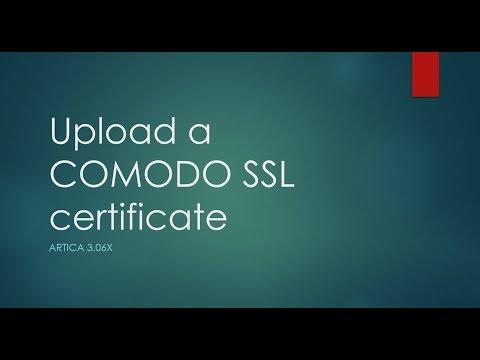 Add a COMODO SSL certificate
