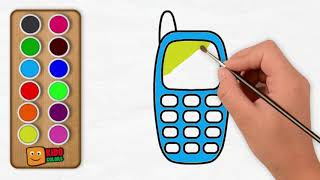 Mobile Phone Coloring Page | How to Draw Mobile Phone for Kids By Kido Colors