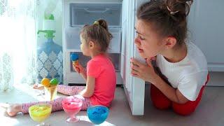 Ева и мама играют в магазин вкусного мороженного. Сборник лучших видео