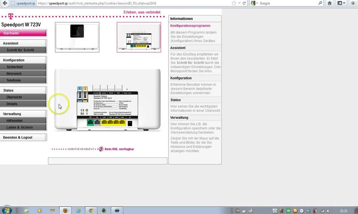 l sung mac l sst speedport w723v neustarten youtube. Black Bedroom Furniture Sets. Home Design Ideas