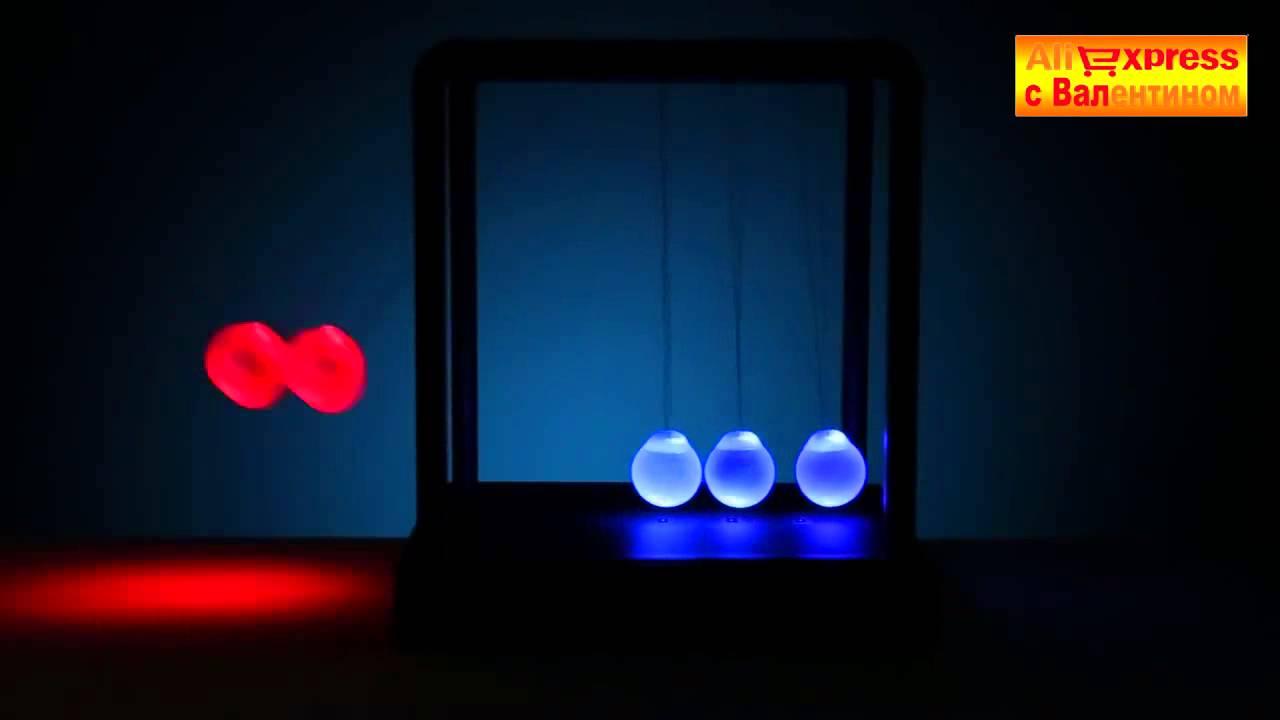 Маятник ньютона был создан для демонстрации преобразования механической энергии в кинетическую и наоборот. Успокаивающие свойства.