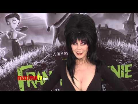 Cassandra Peterson ELVIRA at FRANKENWEENIE Los Angeles Premiere ARRIVALS