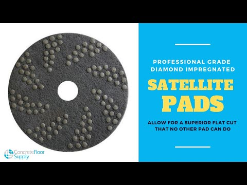 Concrete Floor Polishing with DNA Satellite Pads Allow for a Superior Flat Cut