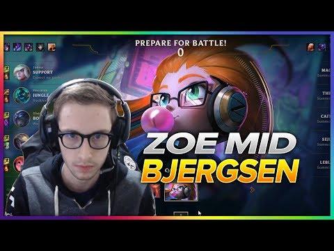 618. Bjergsen Zoe Vs Leblanc Mid - Patch 8.8 Season 8 - BJERGSEN STREAM