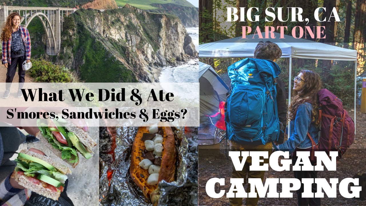 Vegan Camping - Feeding Squirrels, Eggs & Potato S'mores?! | Part 1 Big Sur, CA