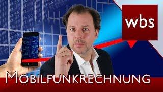 Drittanbieter – Abzocke auf der Mobilfunkrechnung | Rechtsanwalt Christian Solmecke