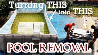 Dismounting a pool with water in it | Pool Removal