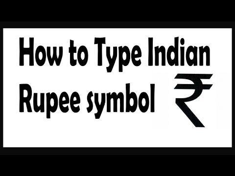 How To Type The Indian Rupee Symbol In Keyboard Youtube