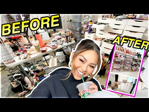 SPRING CLEANING: Organizing/decluttering my *insane* makeup collection | Roxette Arisa