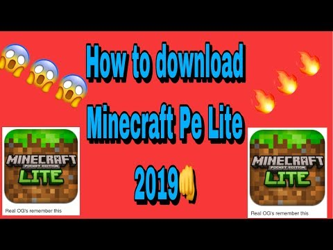How To Download Minecraft Lite (iN 2019)