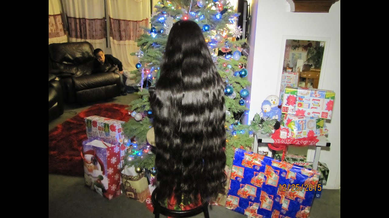 Rubi A Youngest Girl W Longest Hair Of The World My Christmax 2015