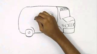 How to Draw a Cartoon School Bus   YouTube