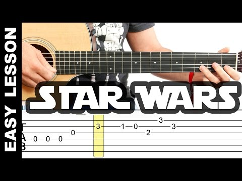 How To Play Star Wars Theme on Guitar EASY LESSON with tabs