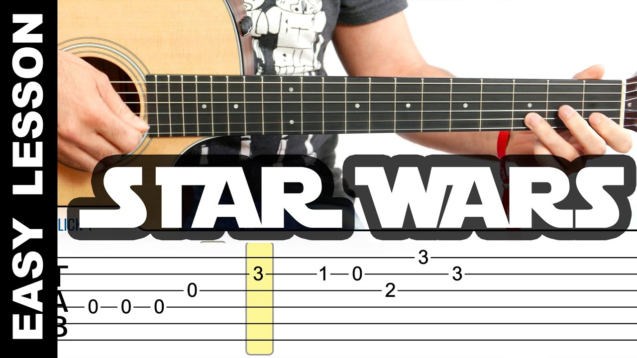 How To Play Star Wars Theme on Guitar EASY LESSON with tabs - YouTube