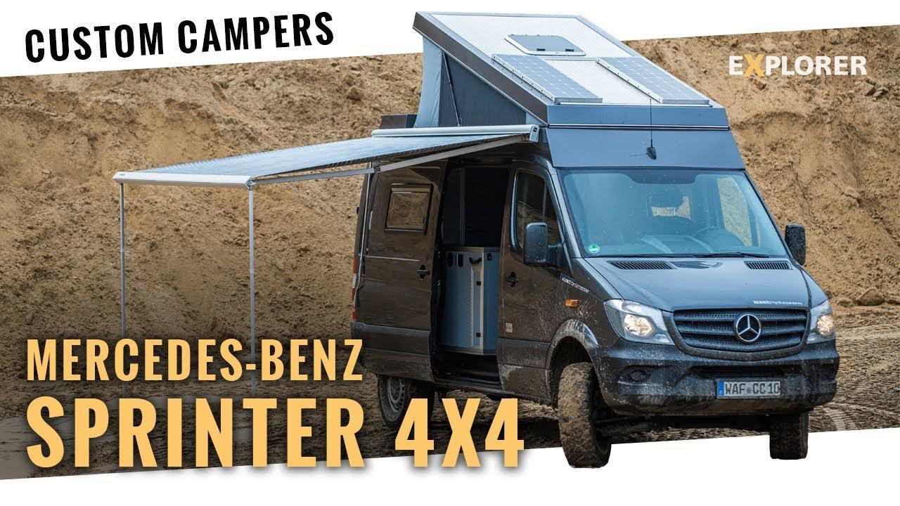 mercedes sprinter 4x4 campervan mit aufstelldach im test. Black Bedroom Furniture Sets. Home Design Ideas